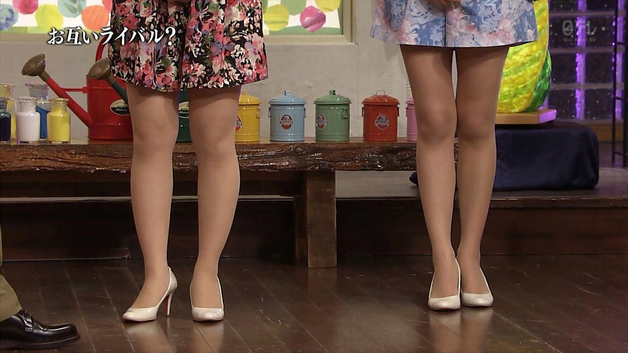 水卜麻美アナと徳島えりかアナの脚比較