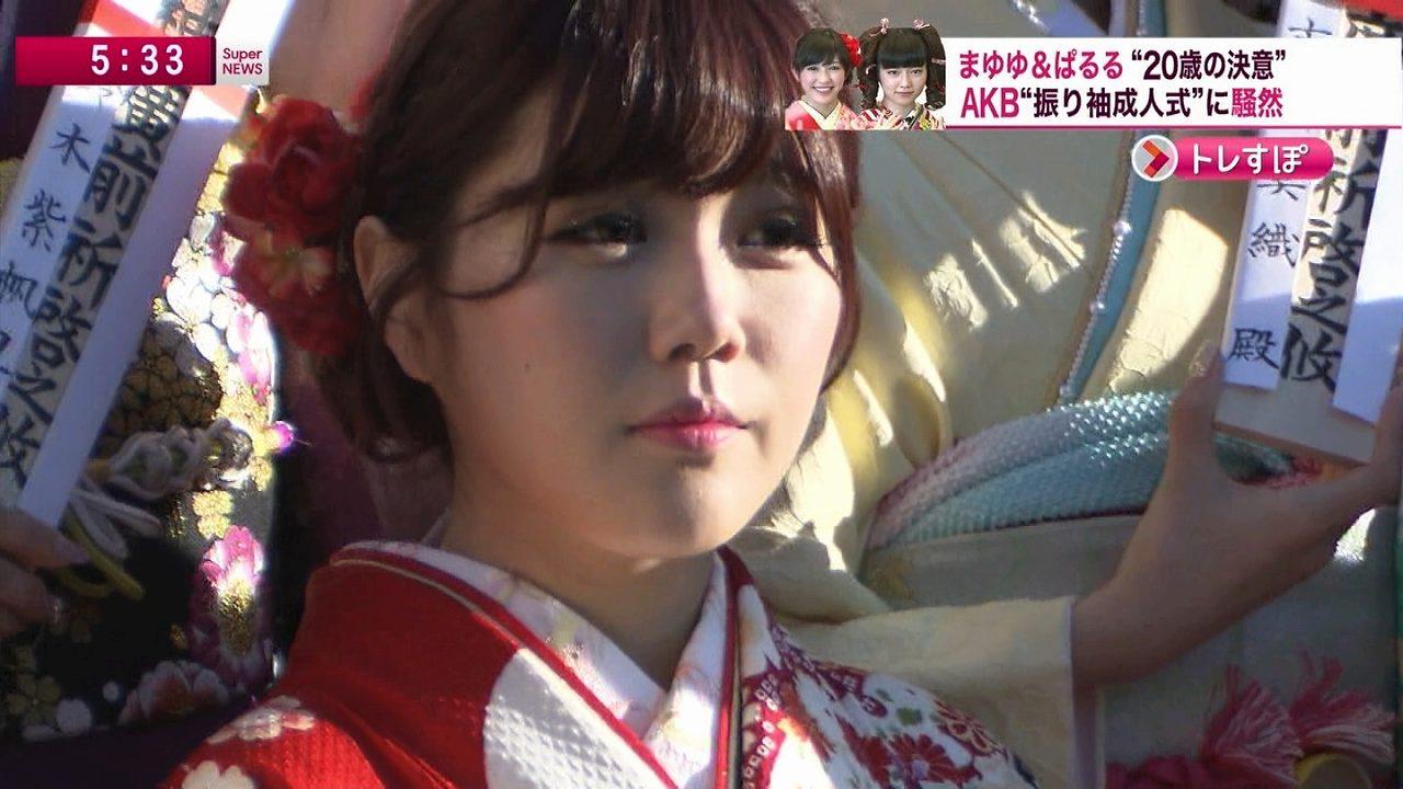 AKB48グループ成人式の晴れ着姿 宮崎美穂の顔が整形すぎる