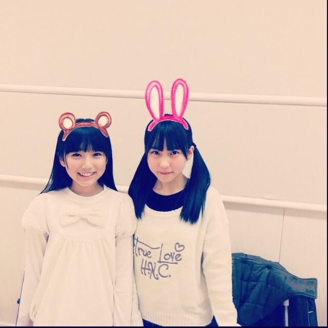 HKT48の矢吹奈子と田中美久