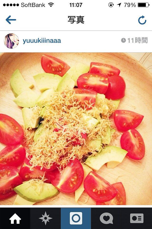 木下優樹菜の料理 アボカドとトマトのサラダ