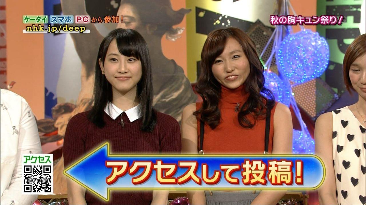 NHK「Shibuya Deep A」で共演した松井玲奈と吉木りさ 吉木りさの劣化が酷い