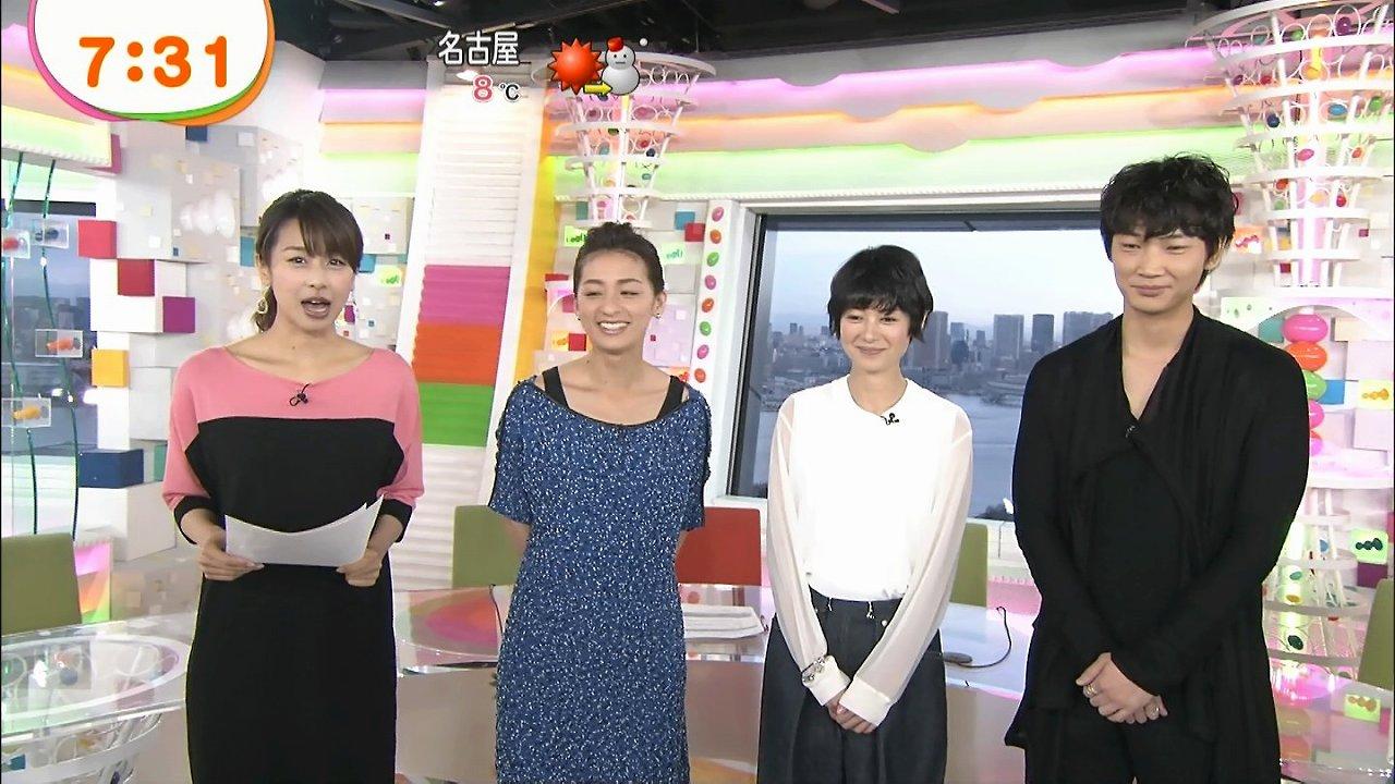 「めざましテレビ」に出演した尾野真千子、真木よう子、綾野剛と加藤綾子