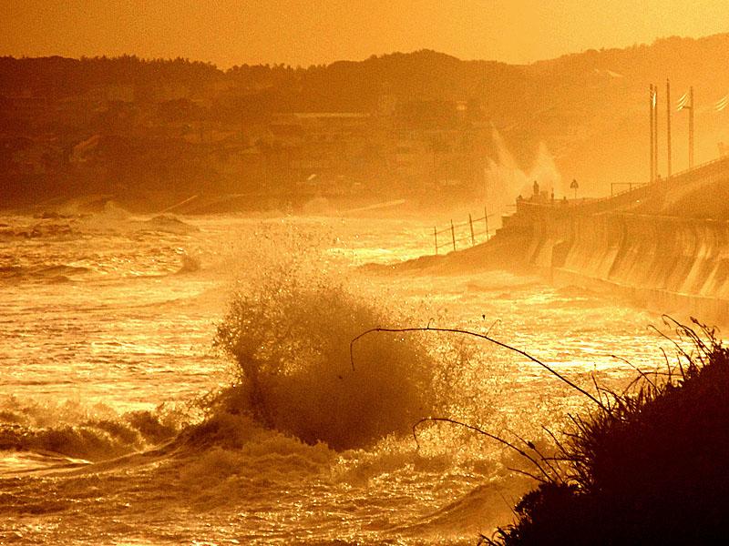 130916台風一過の野比海岸3