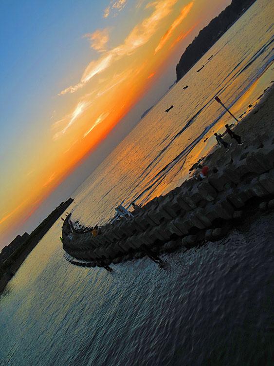 130921逗子海岸夕景08