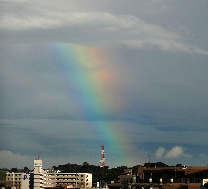 130902今日の虹と夕空と榎の丘1