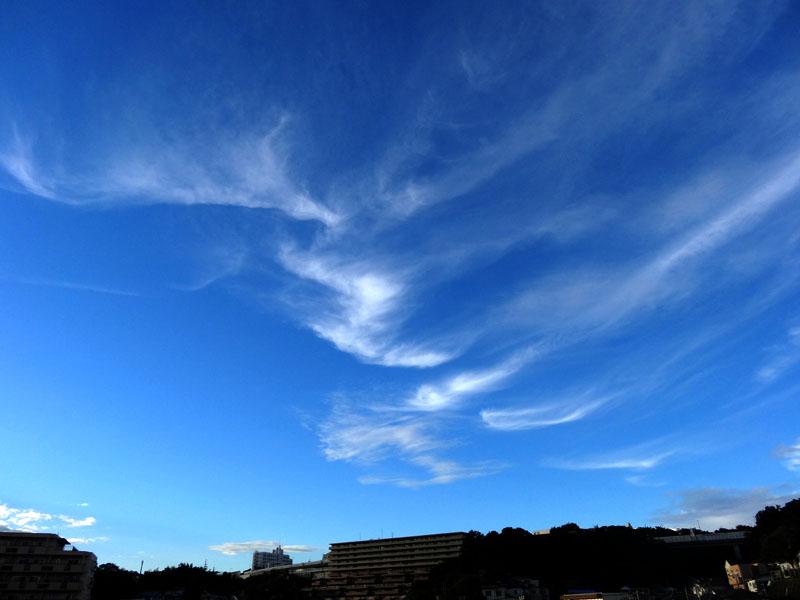 130902今日の虹と夕空と榎の丘2
