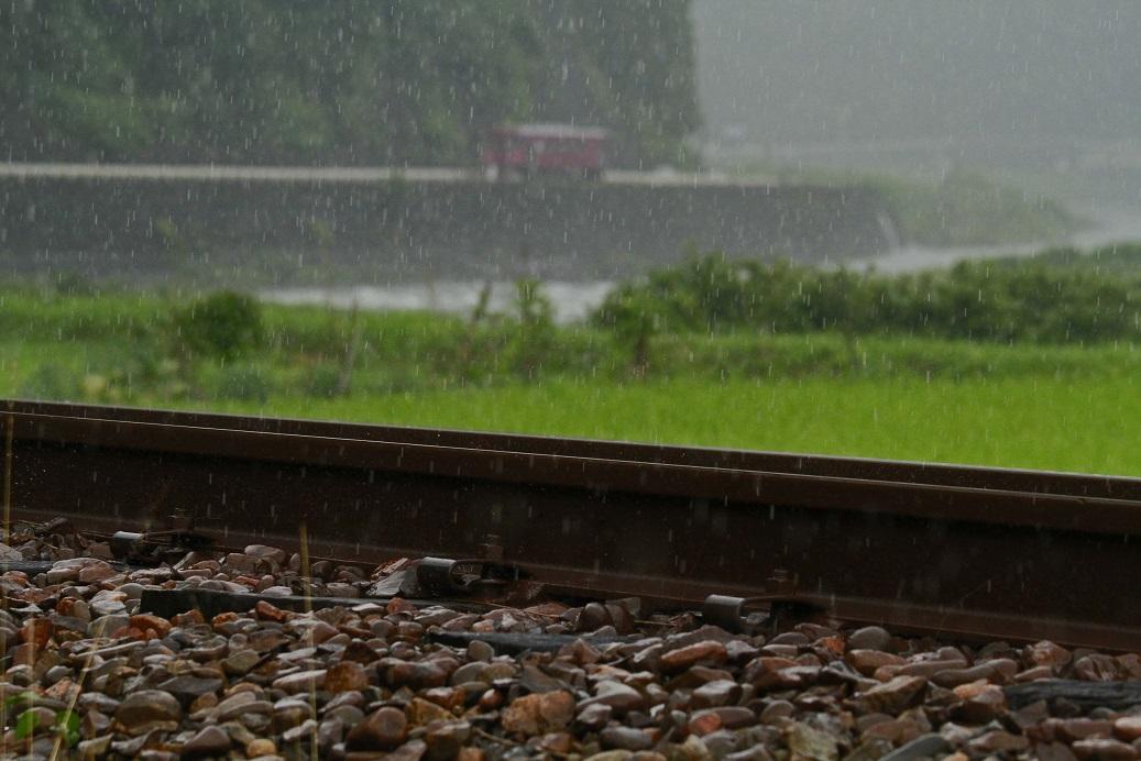 線路アップ雨3