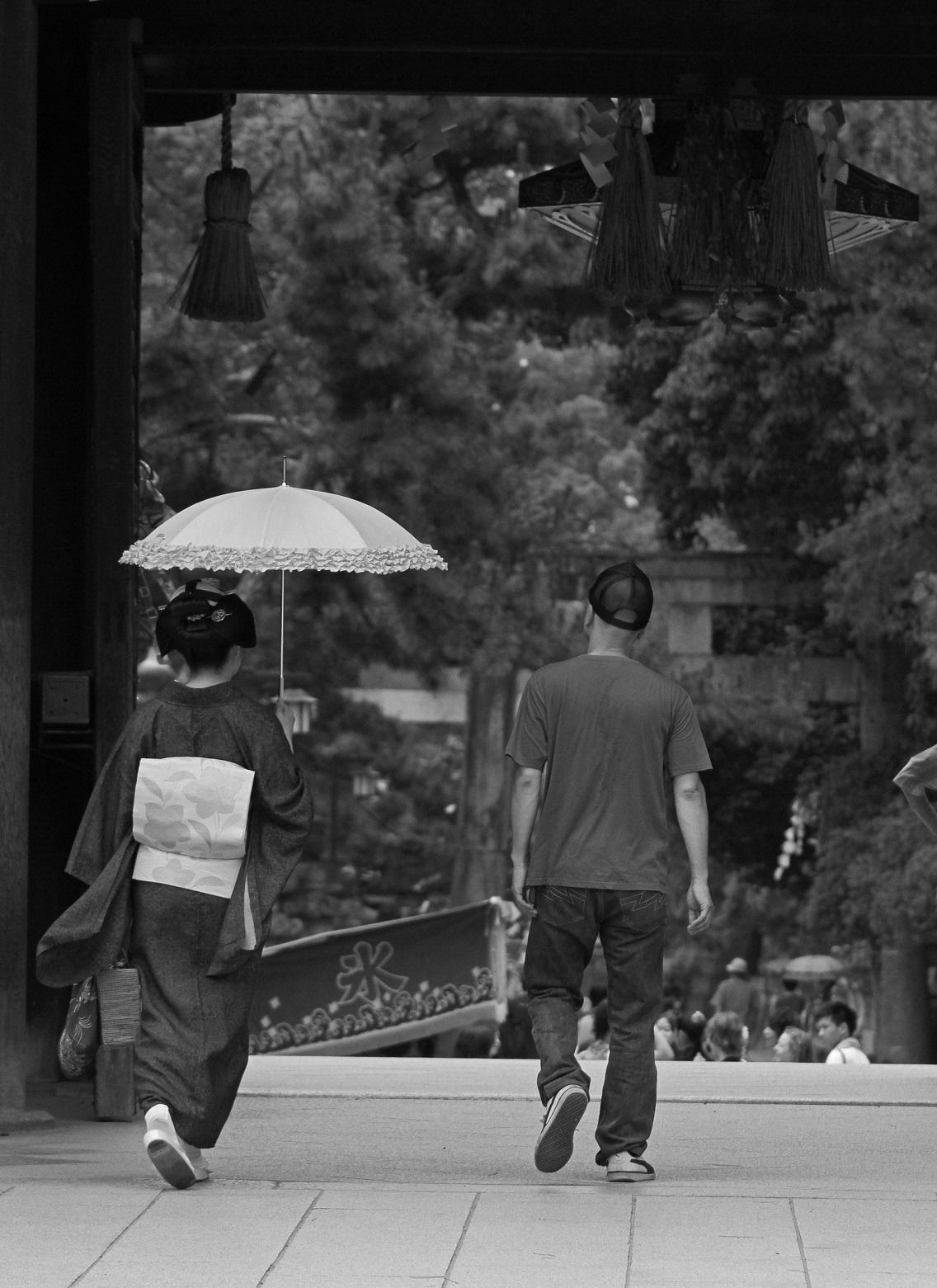 ブログ北野天満宮日本髪夫婦