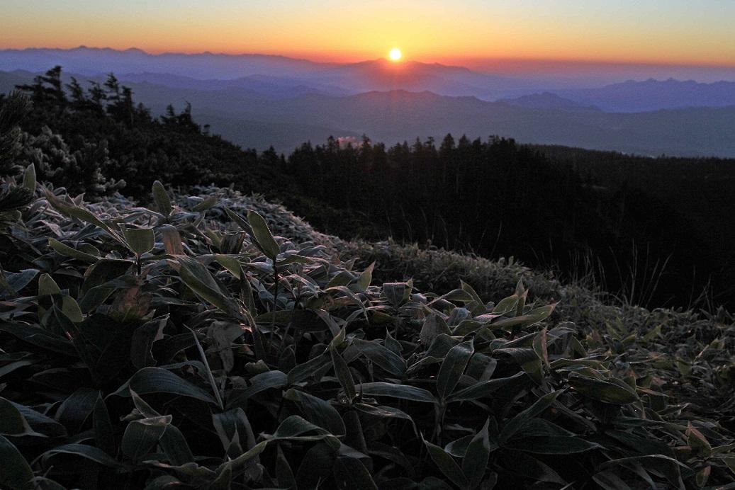 ブログ横手山日の出