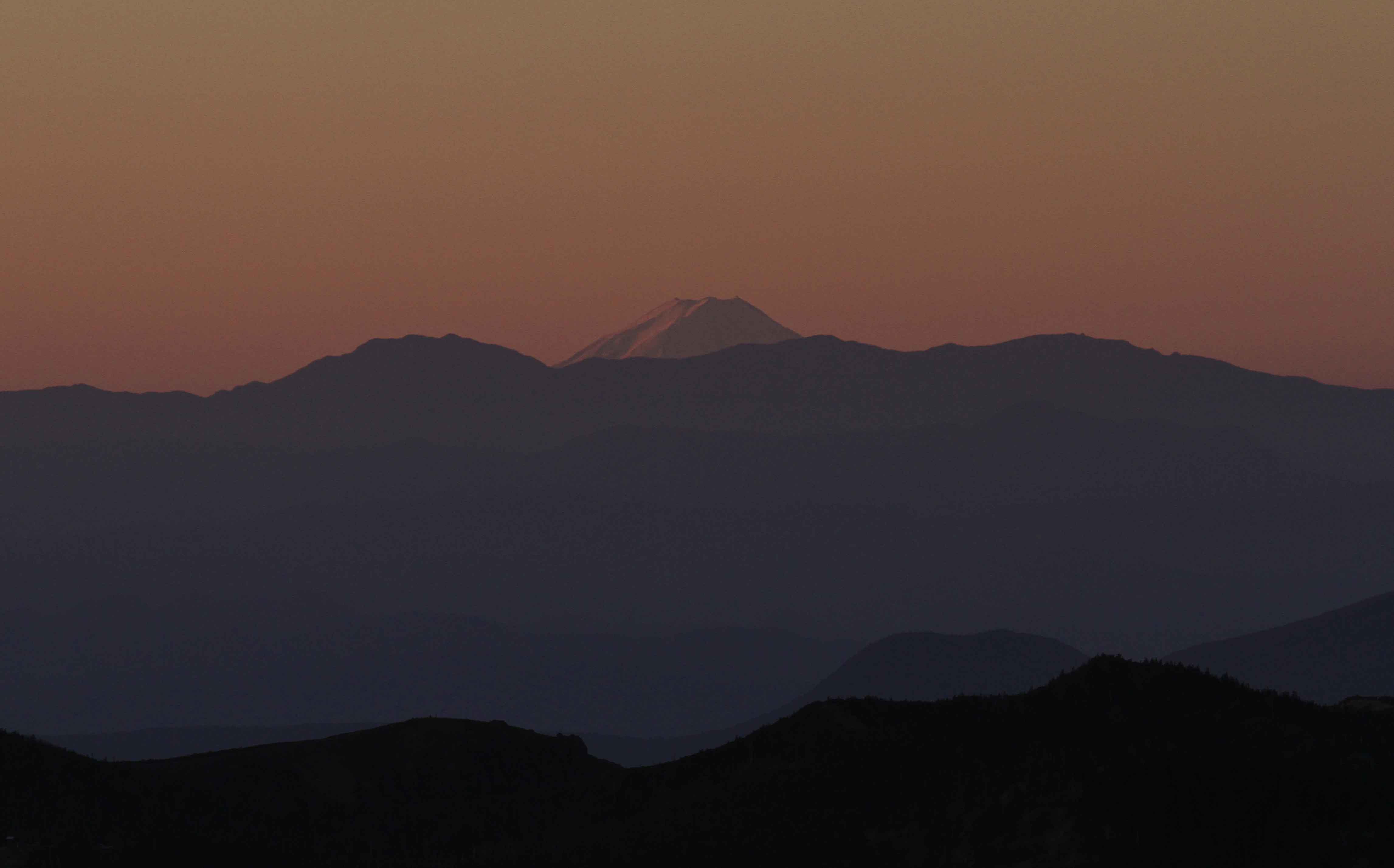 ブログ横手山から富士山