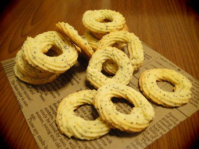 クリチとポピーシードのクッキー