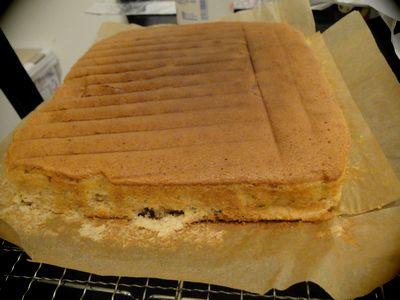 ゆであずきのケーキ