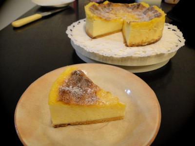 チーズタルトのケーキ