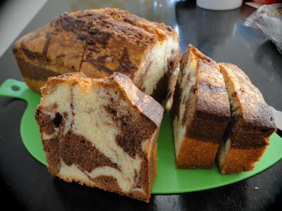 マーブル模様のパウンドケーキ