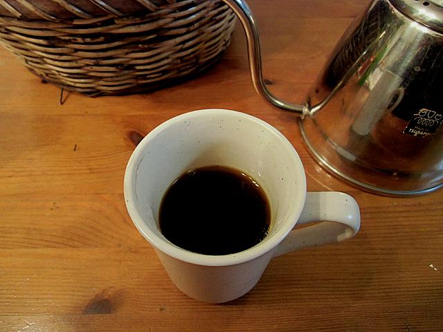 濃い目のコーヒーができました