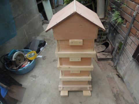 日本蜜蜂巣箱自作制作16