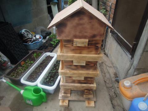 日本蜜蜂巣箱自作制作17