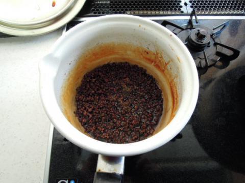 山椒の実の調理後