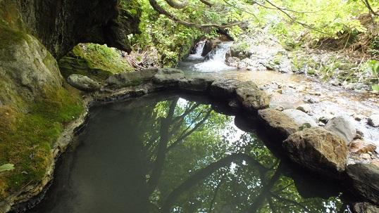 金花湯崖の湯4