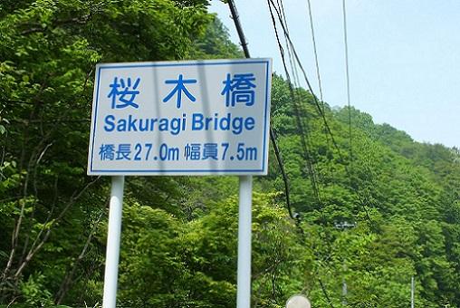濁川冷泉(森)桜橋