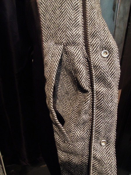 SOUTH ROAD  WOOL HERRINGBONE DOWN JKT (6)