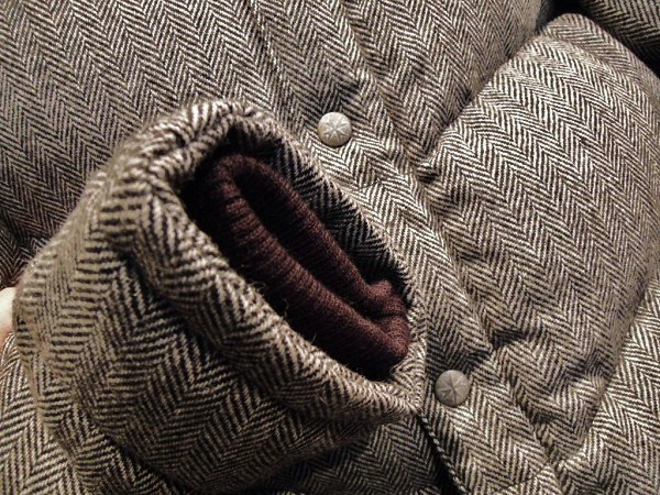 SOUTH ROAD  WOOL HERRINGBONE DOWN JKT (4)