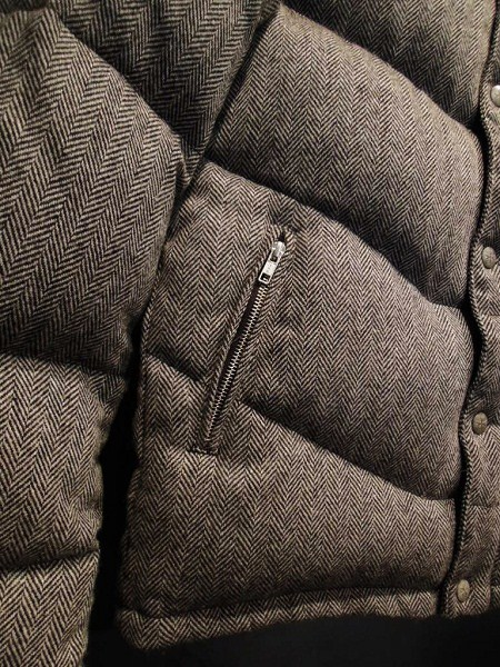 SOUTH ROAD  WOOL HERRINGBONE DOWN JKT (2)