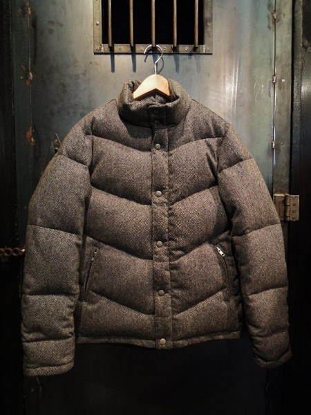 SOUTH ROAD  WOOL HERRINGBONE DOWN JKT (1)