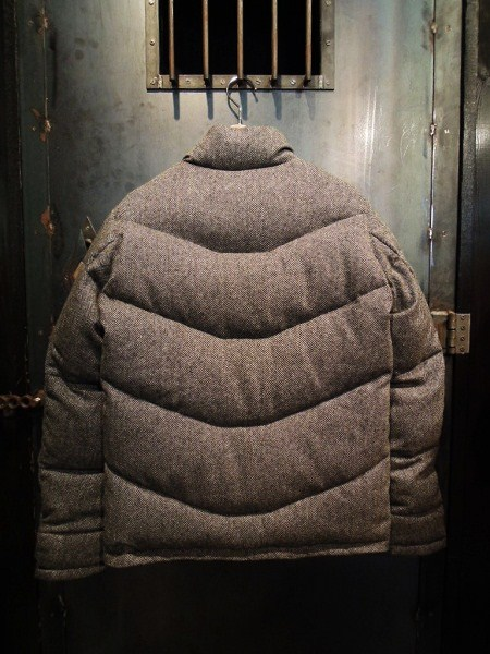 SOUTH ROAD  WOOL HERRINGBONE DOWN JKT (5)