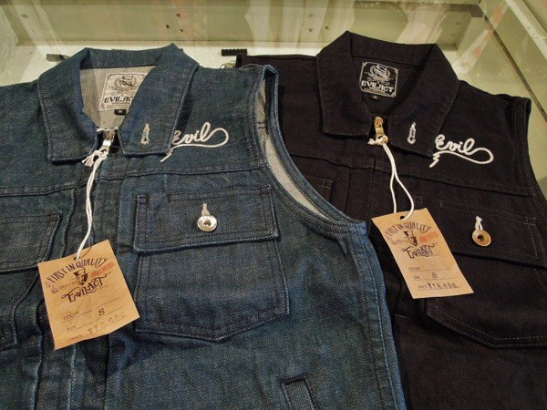 EVIL ACT  TYPE2 ZIPUP DENIM VEST