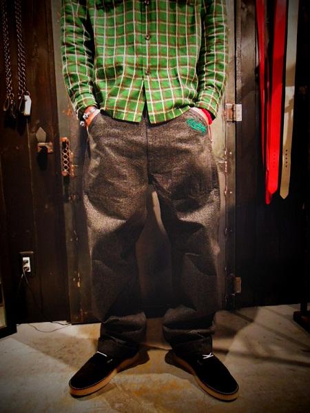 O.C Style   Raceup Black Shambray Pants