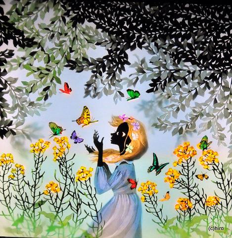 1-蝶と少女