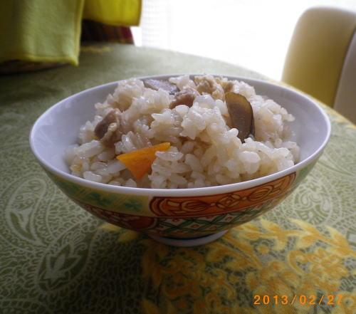 2013年2月24日鳥五目炊き込みご飯