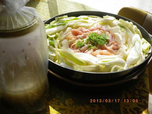 2013年3月17日(日)塩麹鳥鍋