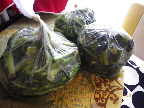 小松菜のお漬け物18束分