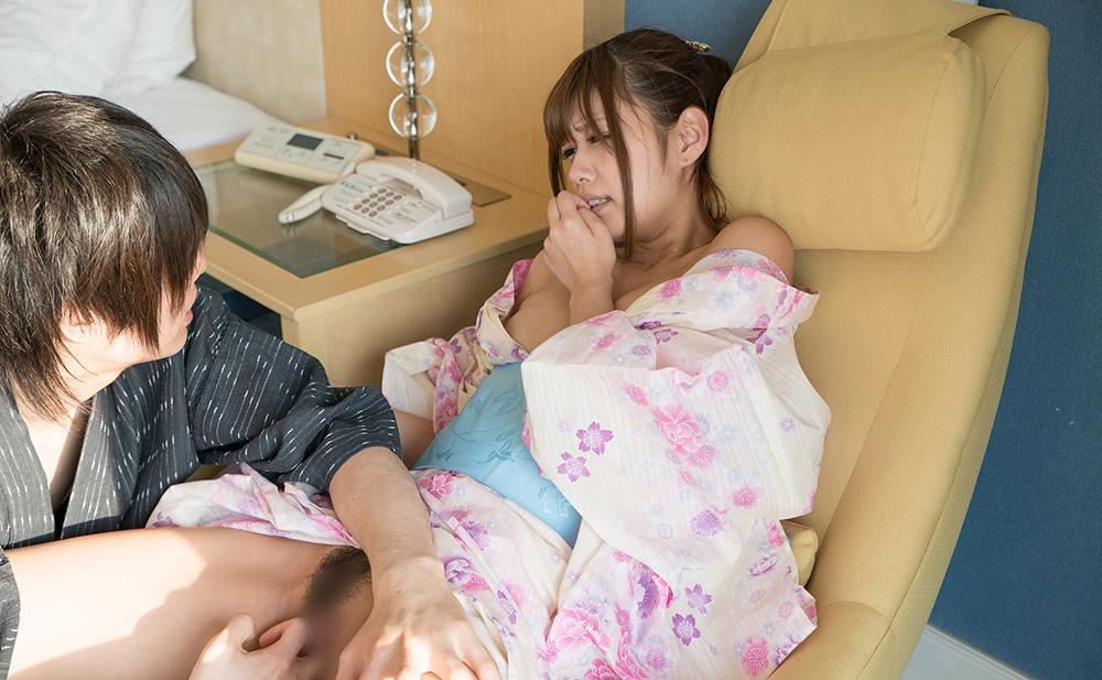 AV女優 紺野ひかる 浴衣 セックス画像 15