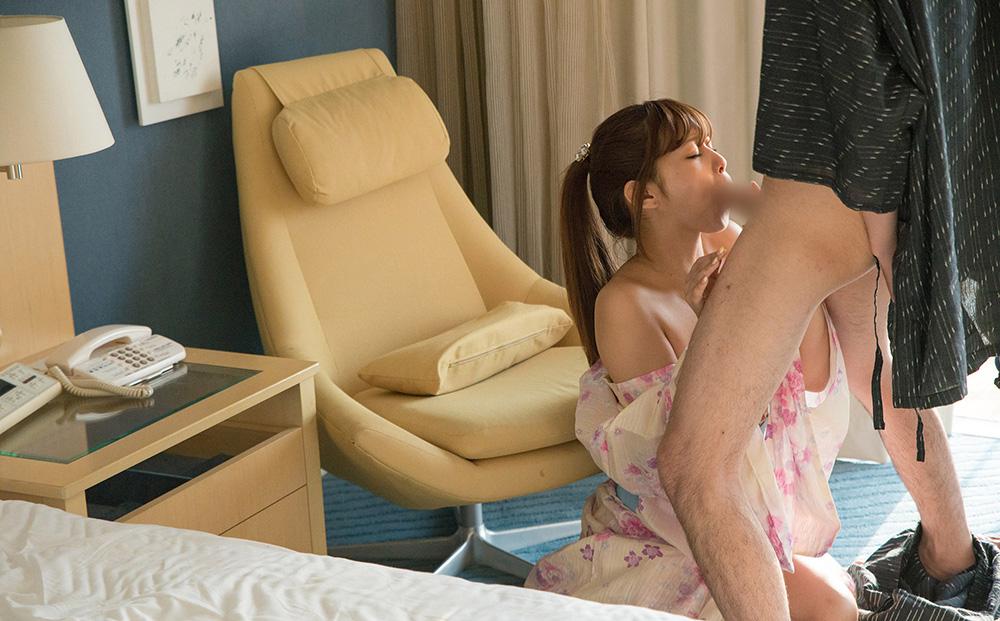 AV女優 紺野ひかる 浴衣 セックス画像 27