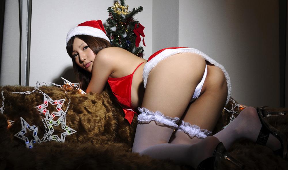 AV女優 桐谷ゆりあ サンタ コスプレ セックス画像 34