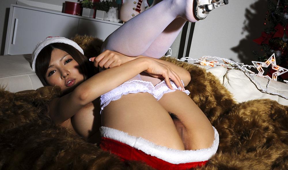 AV女優 桐谷ゆりあ サンタ コスプレ セックス画像 40