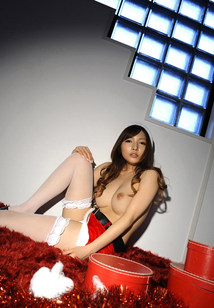AV女優 桐谷ゆりあ サンタ コスプレ セックス画像 46