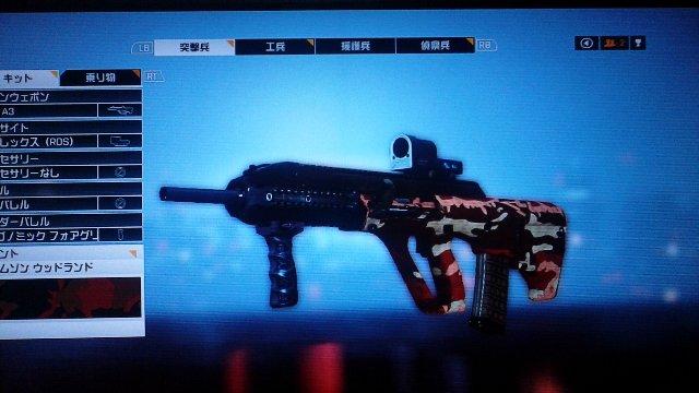 アサルト系ライフルの中でグレポンと共有可能な銃がAUG。アンダーバレル導入でグレラン装備出来ます。付けてないけど