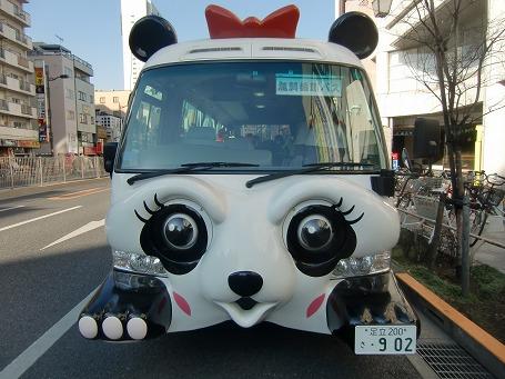 北部浅草周辺も無料で巡回するパンダバス