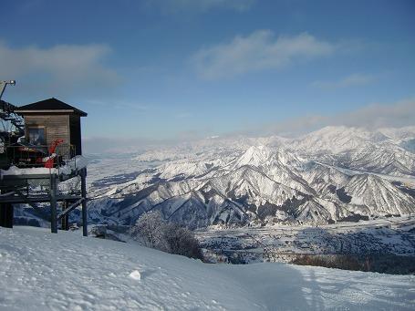 GALA湯沢 高津倉山山頂から