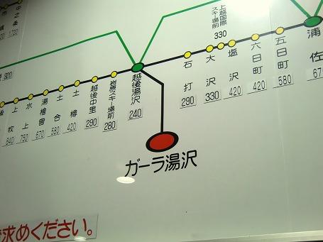 ガーラ湯沢駅 新幹線料金表