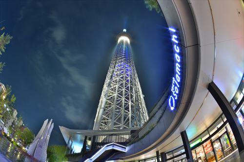 東京スカイツリータウンの夜景