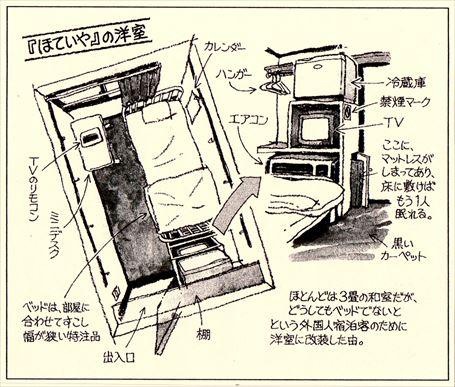 禁煙の小洋室内(2階)のイラスト