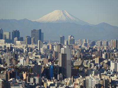 南千住から綺麗な富士山 ④