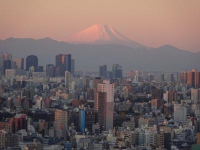 南千住から綺麗な富士山 ①