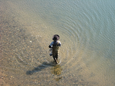 旭川での釣り人