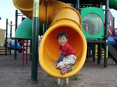 公園で遊んで